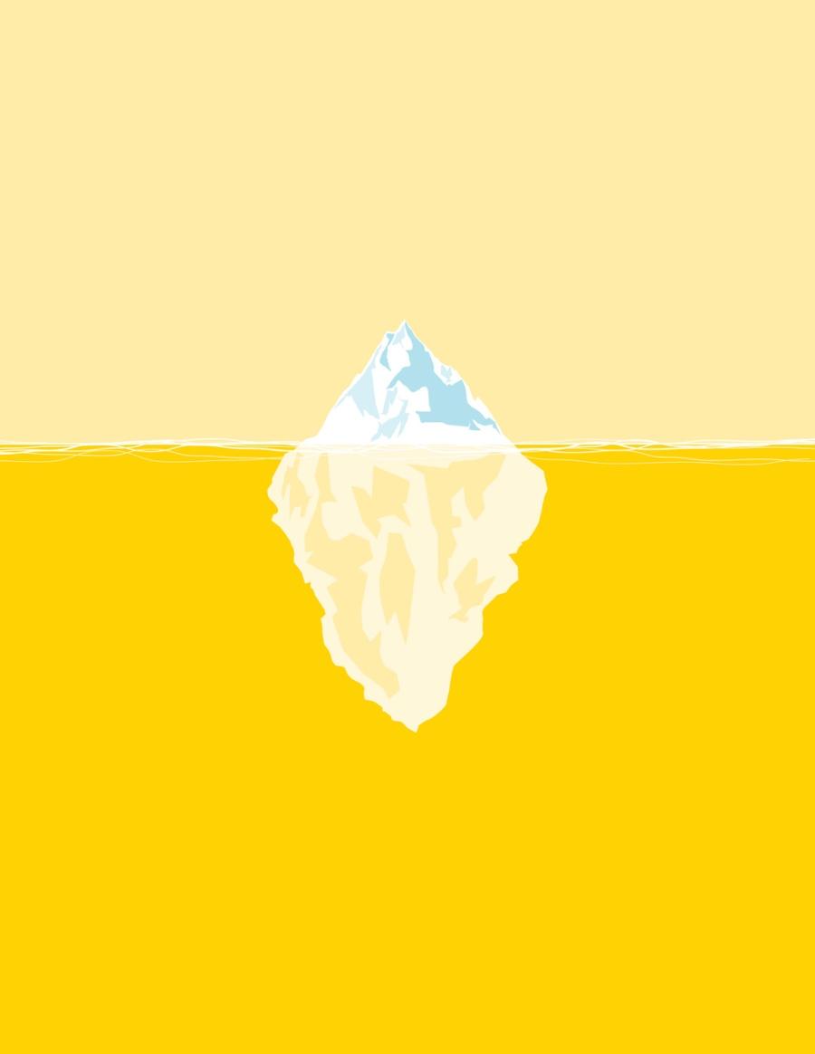 iceberg de freud - Melkberg - psicologia - inconsciente - mente - primeira topica - iceberg - Freud