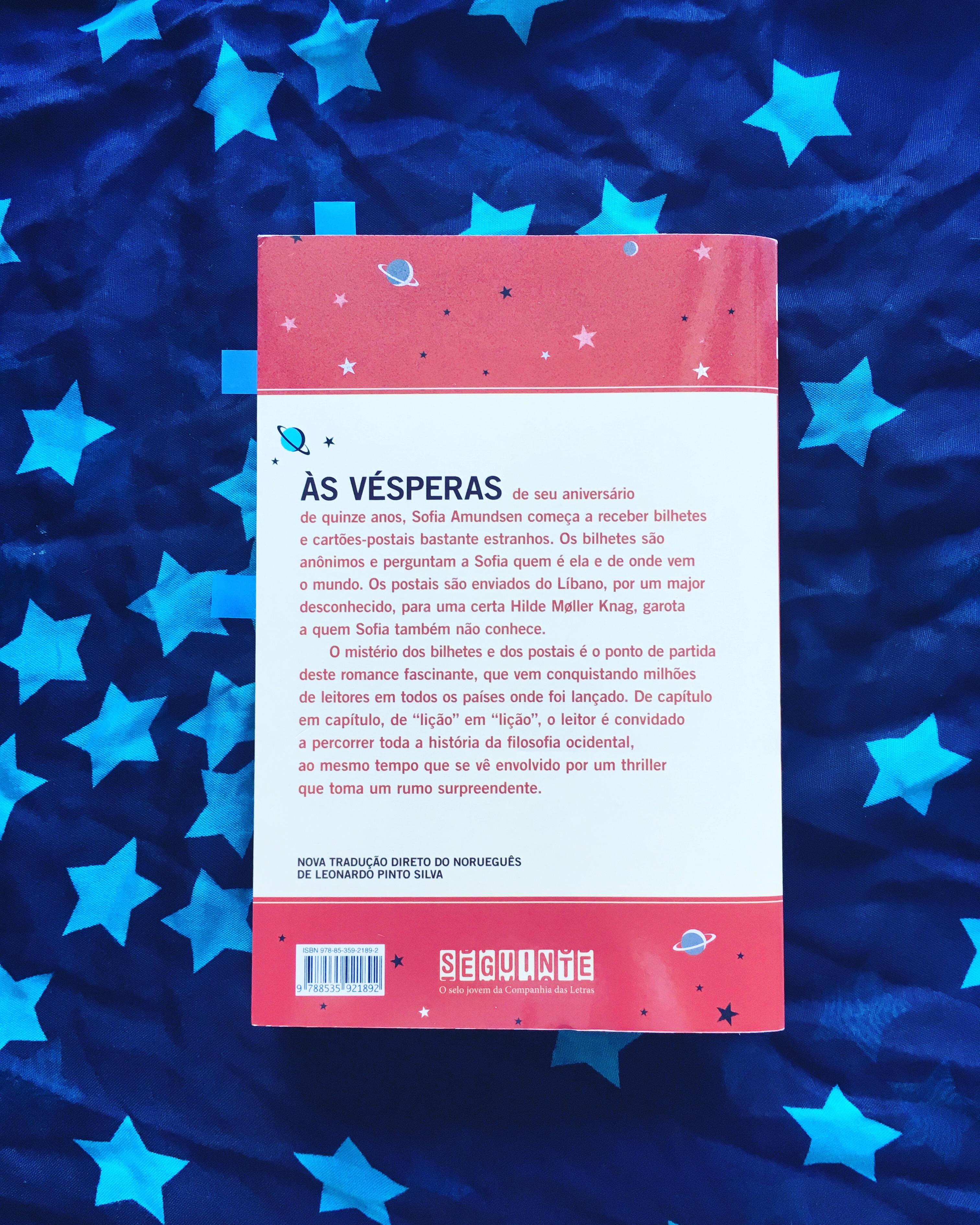 O Mundo de Sofia - Melkberg - Jostein Gaarder - fantasia - filosofia - resenha - livro